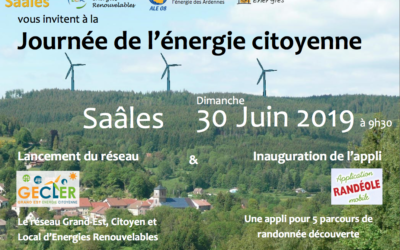 30 juin 2019 – Journée de l'énergie citoyenne à Saâles